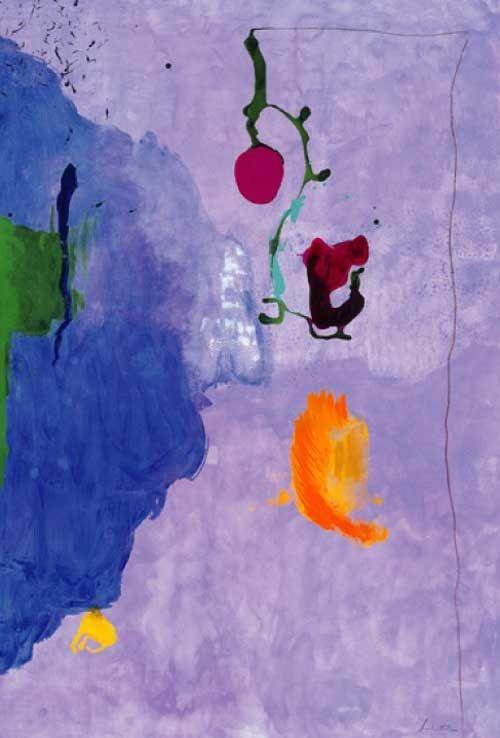 """Helen Frankenthaler Eve, 1995, Acrylic on Paper, 75 x 50"""""""