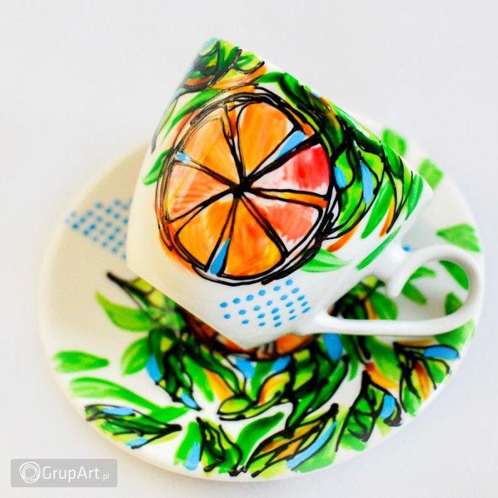 Grupart.pl - Filiżanka Pomarańcza - Wnętrze - Ceramika