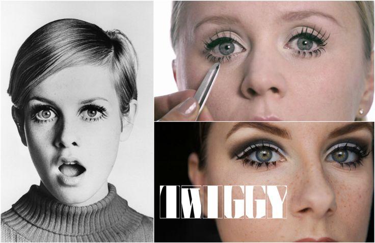 Was ist typisch für das Twiggy Make-up