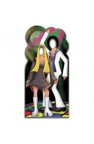 Disco Couple Stand-in Cutout - 70's Party Decorations