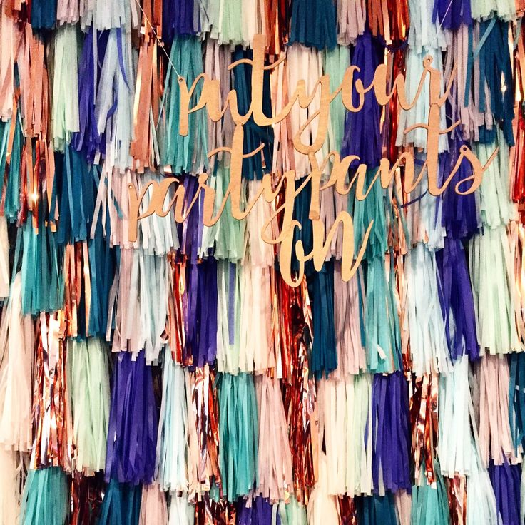 Tassel Garland Backdrop // wedding backdrop // photography backdrop // photo booth backdrop by FancyFaceStudio on Etsy https://www.etsy.com/listing/188682153/tassel-garland-backdrop-wedding-backdrop