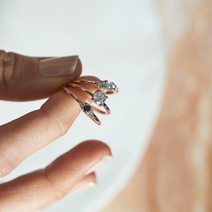 Dear Rae | Fancy Pants Diamond Ring Collection  #DearRae #DearRaeJewellery #DiamondRings #ColourDiamonds #EngagementRings #BlackDiamond #WhiteDiamond