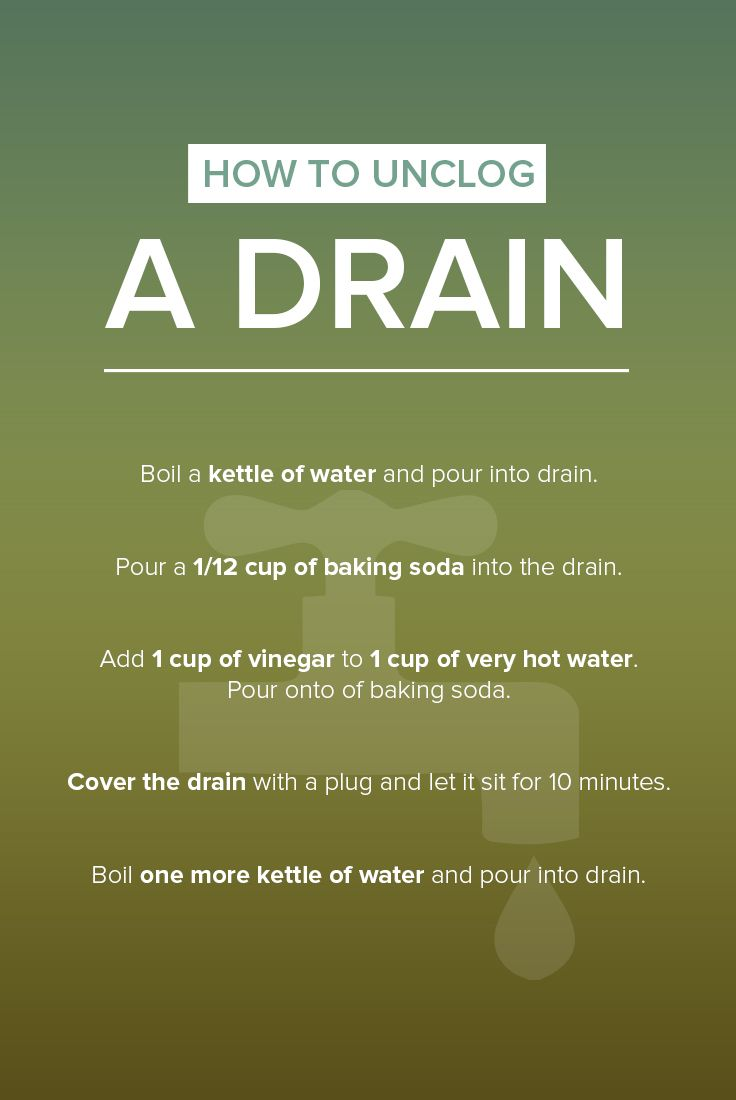 Here's a natural way to unclog a drain in your bathroom or kitchen sink.