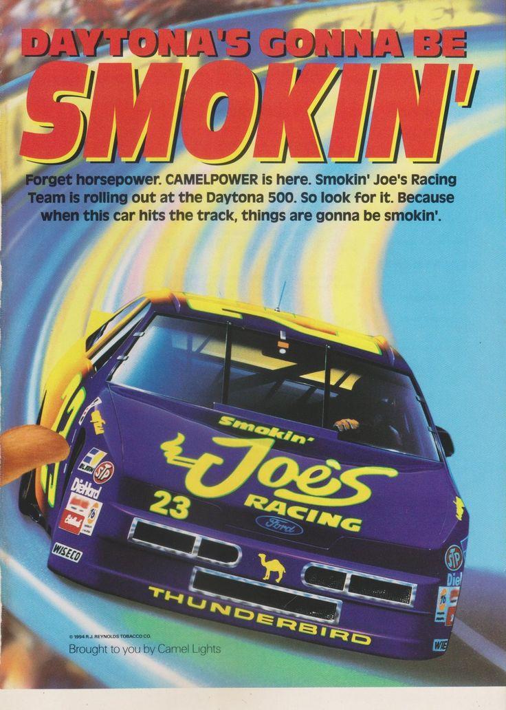 Camel Cigarettes Ad Page ~ Smokin' Joe's Racing Daytona ...