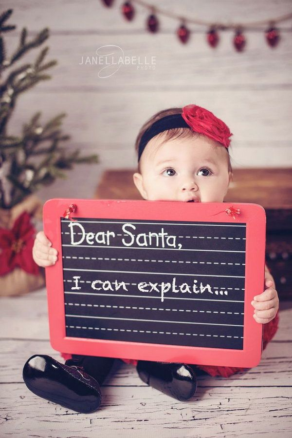 Dear Santa, I can explain, Fun and Creative Christmas Card Photo Ideas, http://hative.com/fun-creative-christmas-card-photo-ideas/,