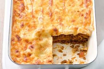 Taking the cheesiness up a notch, this classic lasagne is comfort food at its best.