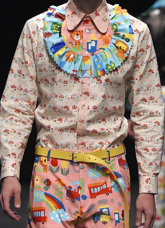 patternprints journal: PRINTS, PATTERNS, TEXTURES AND TEXTILE SURFACES FROM MENSWEAR S/S 2016 COLLECTIONS / PARIS CATWALKS Walter Van Beirendonck