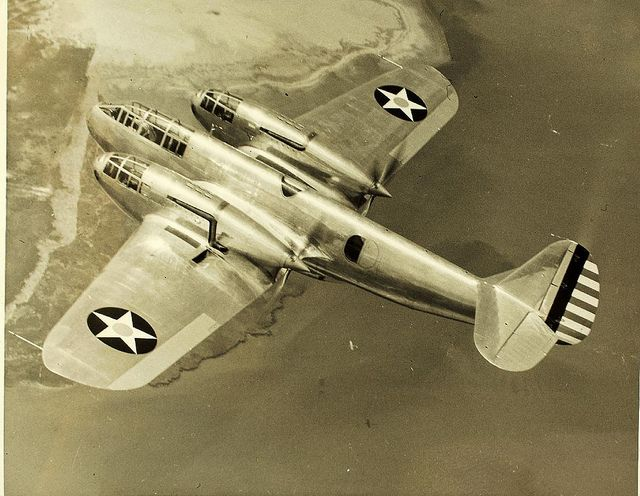 """The Bell YFM-1 Airacuda was an American heavy fighter aircraft, developed by the Bell Aircraft Corporation during the mid 1930s. It was the first military aircraft produced by Bell. Originally designated the """"Bell Model 1,"""" the Airacuda first flew on 1 September 1937. The Airacuda was marked by bold design advances and considerable flaws that eventually grounded the aircraft."""