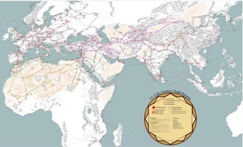 Medieval trade routes and geography.