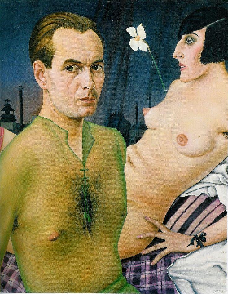 Christian Schad,   [German Painter, 1894-1982]  Self-Portrait, 1927