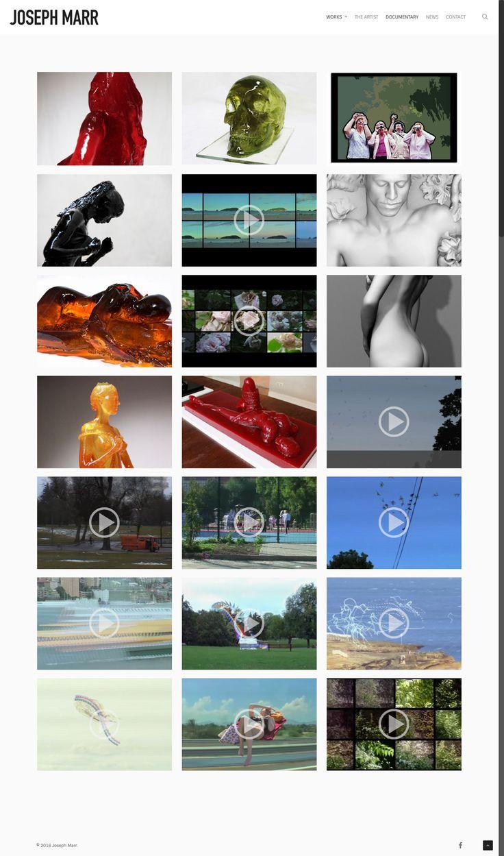 New responsive website design by KORE (http://kore.digital/) for Joseph Marr fine artist, Berlin. Works page. #responsivedesign #webdesign #wordpress