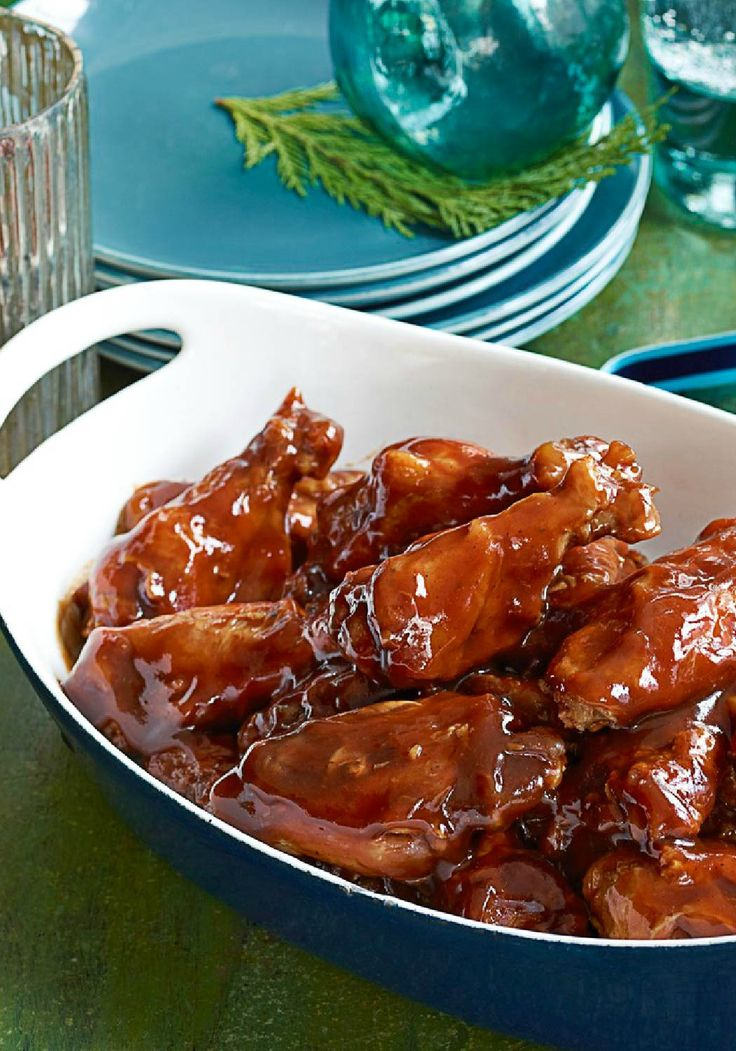 Saucy Slow-Cooker Party Wings – These slow-cooker BBQ wings, seasoned with honey and orange juice, are a crowd-pleaser that make entertaining ridiculously simple. If you're looking for an easy appetizer to serve at your New Year's Eve party, these are the ticket! They take just 15 minutes to prep for the slow-cooker.