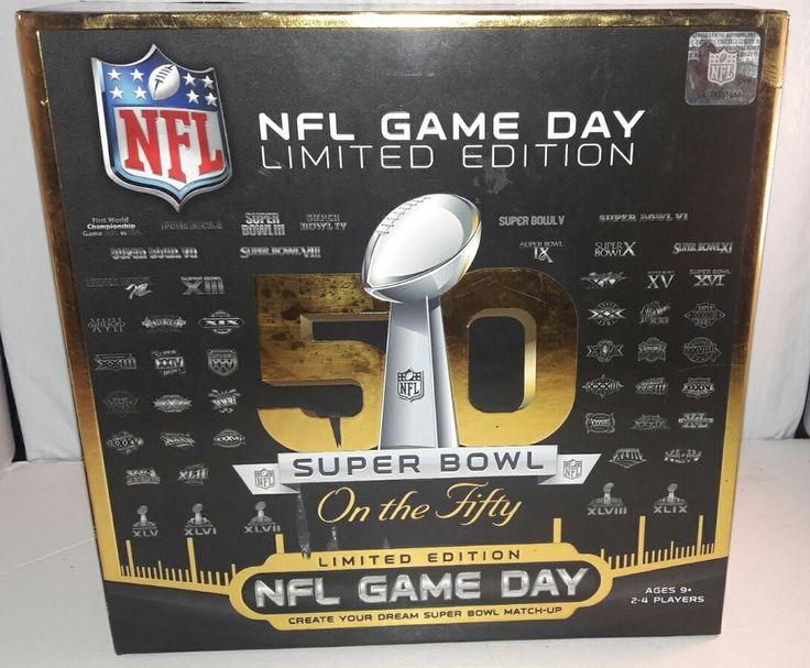 NFL GAME DAY LIMITED EDITION SUPER BOWL 50 COLLECTIBLE BOARD GAME | Sports Mem, Cards & Fan Shop, Fan Apparel & Souvenirs, Football-NFL | eBay!