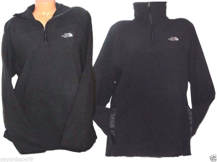The north face black fleece women's pullover 1/4 zip jacket gator ...