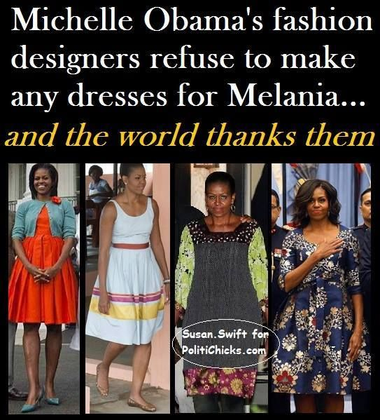 They actually had designers come in to make her look like THIS?  On purpose?  Melania is happy to keep her own designers, thank you very much!