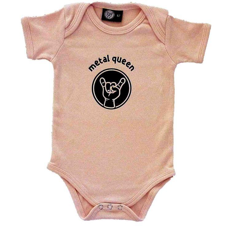 Metal Queen Pink Baby Bodysuit