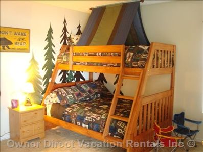 Camp Out theme room in this Kissimmee vacation home.