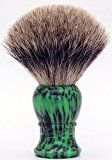 Mr K24B04G Hand Crafted 100% Pure Badger Shaving Brush with Wood Color Hard HandleShaving Birthday Gift