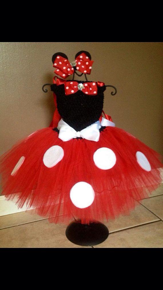 Minnie Mouse tutu dress, red minnie mouse dress, red minnie mouse tutu dress