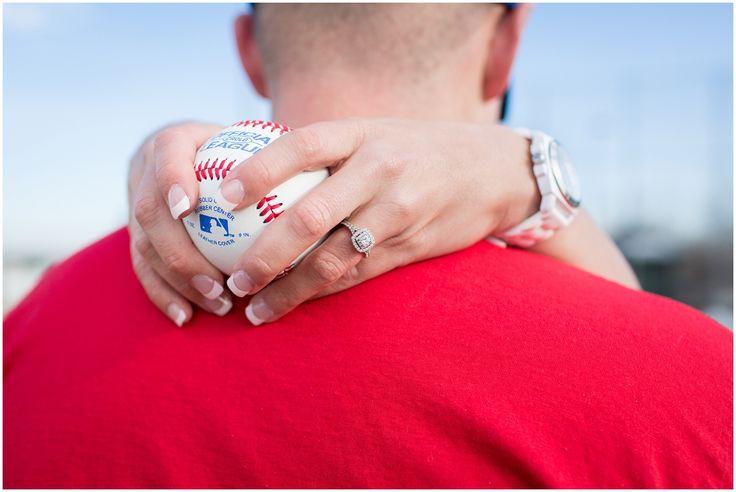Denver Engagement Photos | Baseball Engagement Photos | Plum Pretty Photography | Urban Engagement Photos | Ring Shot