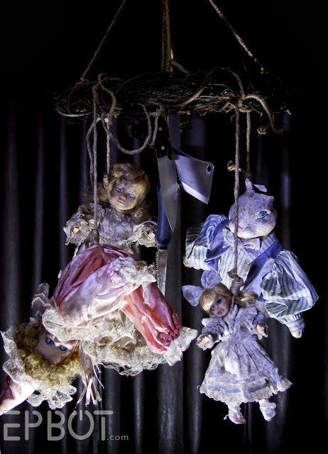 DIY Creepy Doll Mobile - For Halloween!!