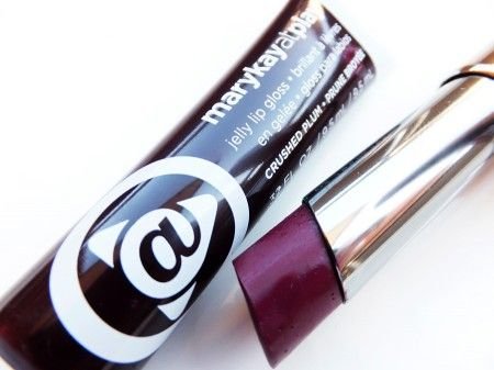 Fall's deep berry lip = Mary Kay at Play Crushed Plum Jelly Lip Gloss + Mary Kay Mystic Plum True Dimensions Lipstick