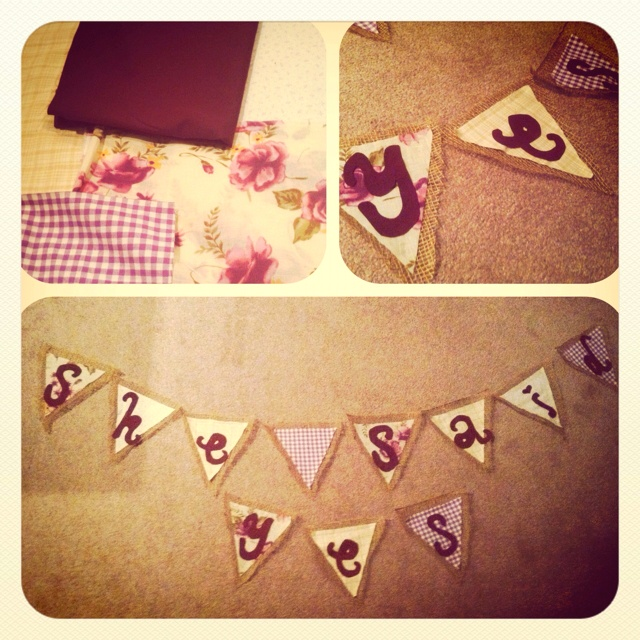 Bridal shower photo booth banner