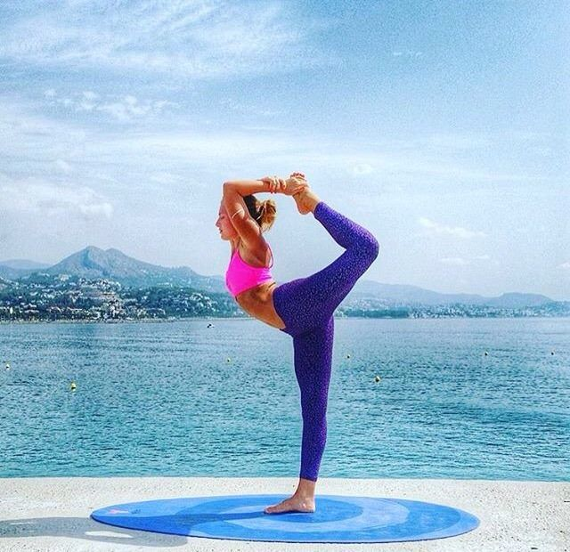 Hola Señorita! Welcoming the beautiful @karlatafra to the Divine Goddess family. How we love a Spanish Yogi! Karla wears our Perach Top and Purple Leopard Leggings. Blessed indeed  #divinegoddess  #yoga  #spain  #leggings