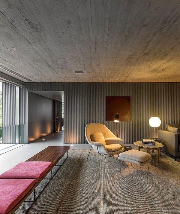 Sala de estar - detalhe do hall de entrada