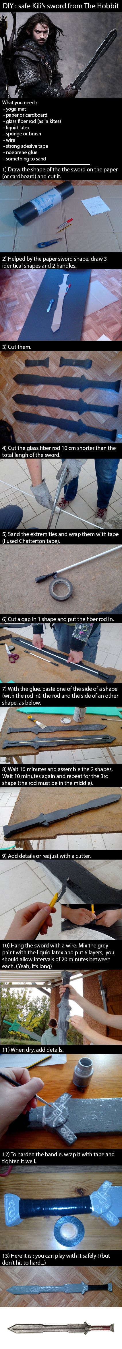DIY : Kili's sword from The Hobbit by MojulineLC.deviantart.com Easy tutorial !