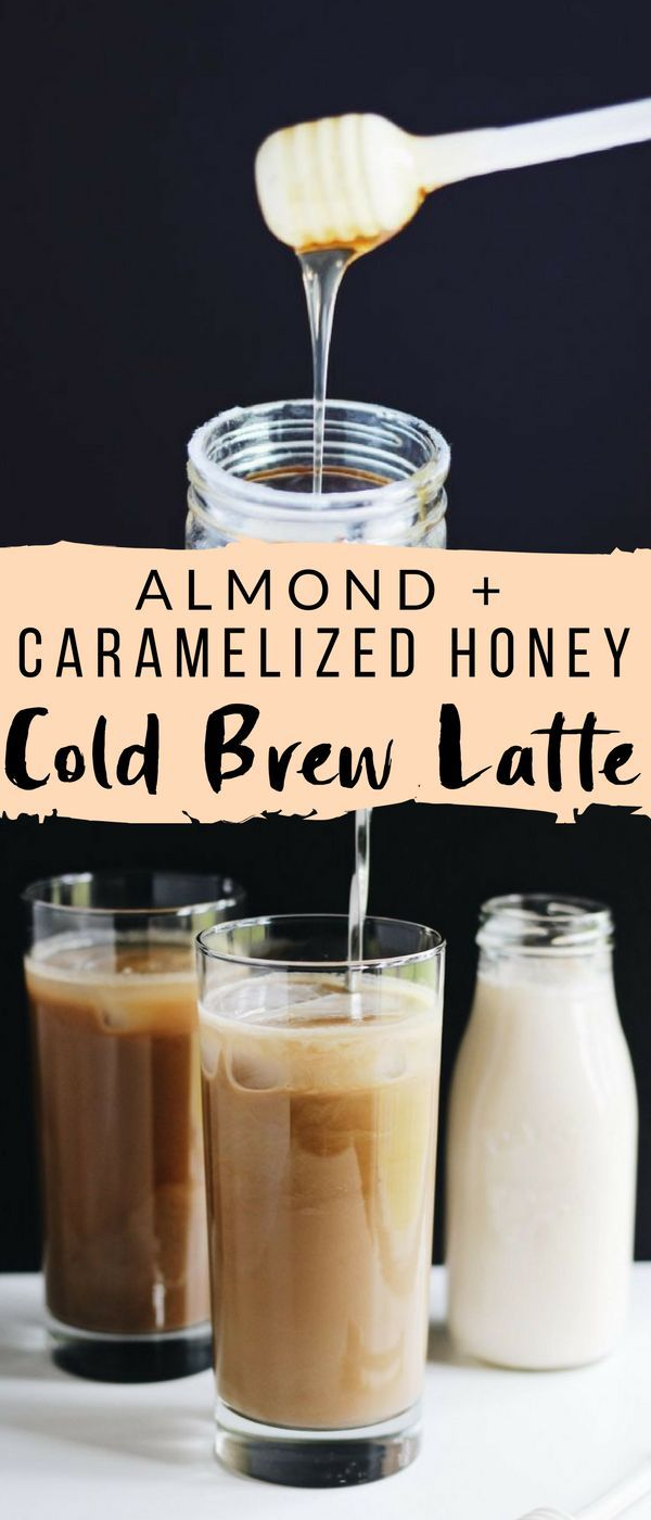 This Caramelized Honey Almond Cold Brew Latte is a delicious, refreshing summer drink that's sweetened with floral honey and made with cost-effective Gevalia Cold Brew Concentrate!