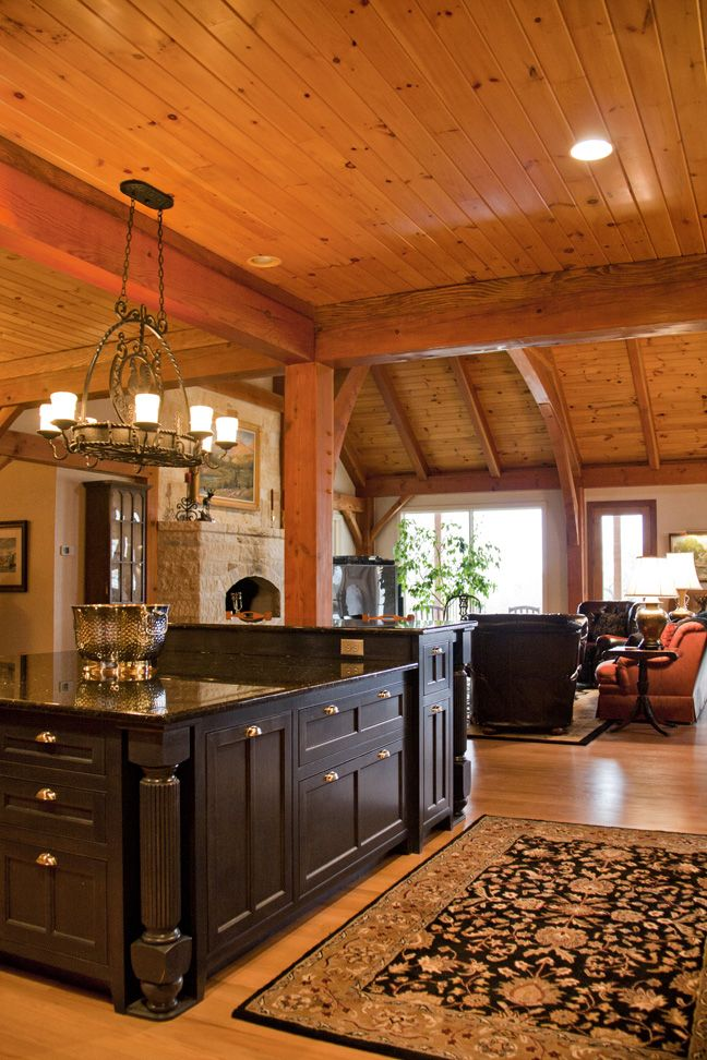 Texas Timber Frame Home Like The Kitchen Ceiling