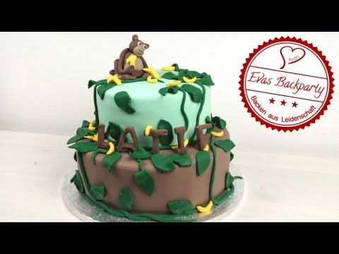 ▶ 2-stöckige Affen - Fondant - Torte ( How to make a monkey fondant cake ) - YouTube
