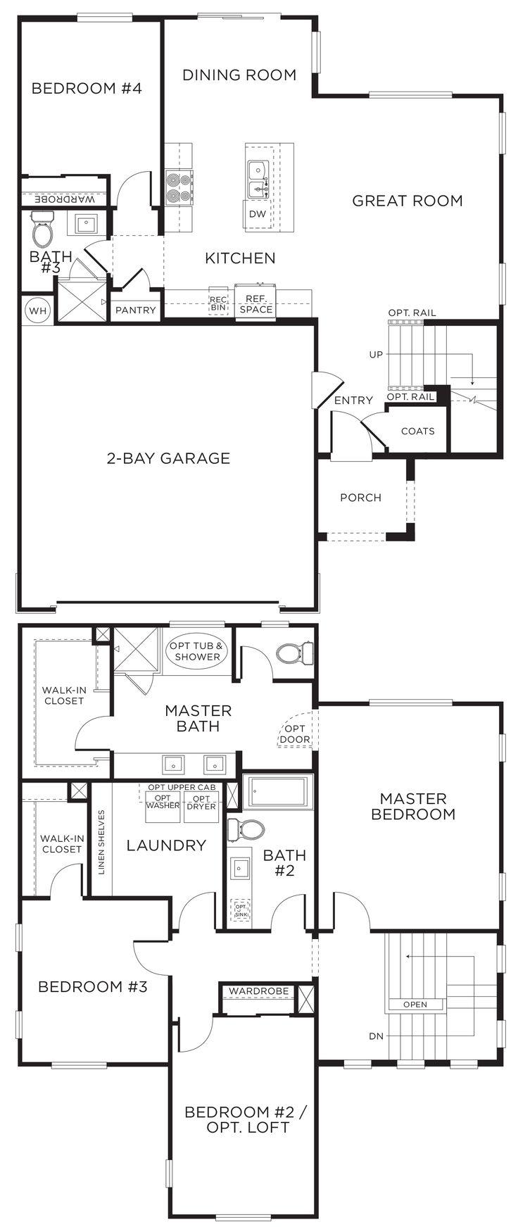 246 best floor plans images on pinterest floor plans seattle estrella plan 3b 4 bedrooms 3 baths 1 919 sq ft