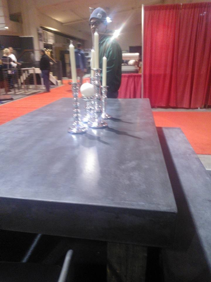 Concrete Table #becuprojecthome #seattlehomeshow