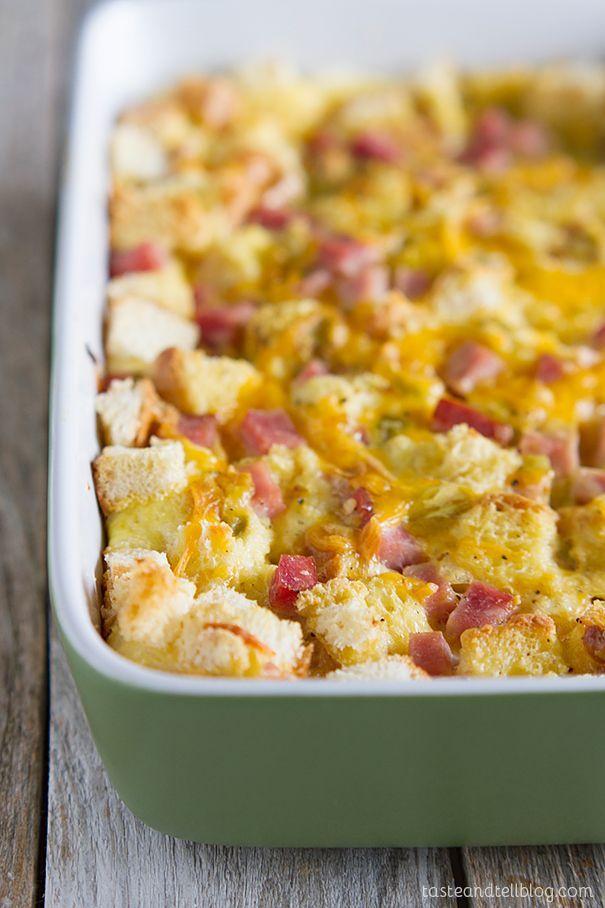 Ham and Cheese Breakfast Casserole Recipe - a great make ahead breakfast!