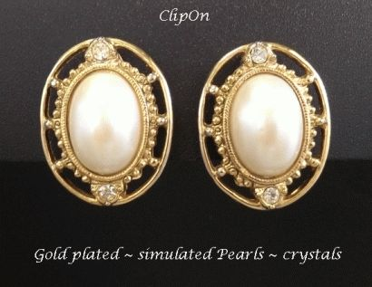 Clip On Earrings Fashion Retro Style Gold Plated, Clip-on 307 .... #cliponearrings #earrings #clipons #silverearrings #jewelry #womensfashion #giftsforwomen #mothersday #mothersdaygifts