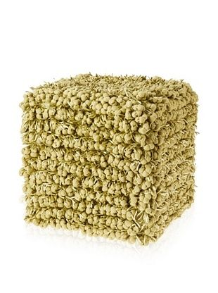 Design Accents Funberry Pouf, Lime, 18