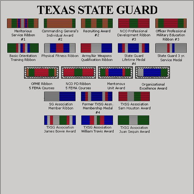 Texas Stare Guar State Defense Force National Guard