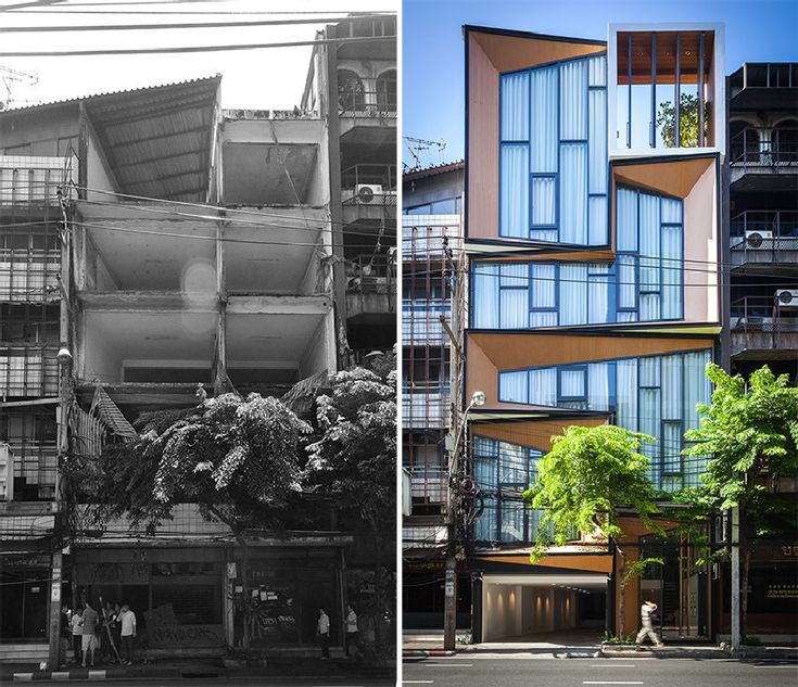 Wrecked Building In Thailand Converted into Surprising Family Home[Before and After Photos] - http://freshome.com/wrecked-building-Thailand-converted-into-family-home/