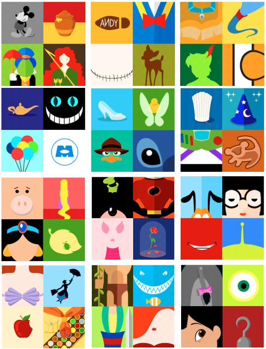 Disney minimalist posters. Anybody have any idea what the red smile is?