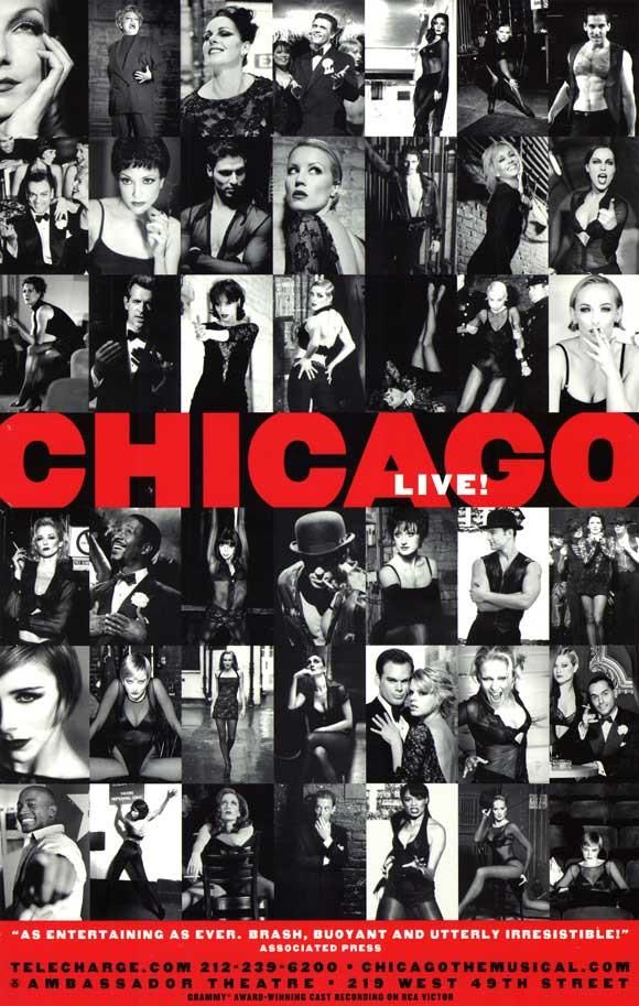 Chicago 27x40 Broadway Show Poster Broadway Posters Chicago