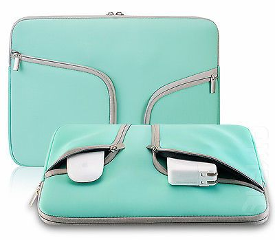 "TEAL Neoprene Soft Sleeve Case for 12"" Laptop MacBook Air 11.6"" Chromebook 11"""