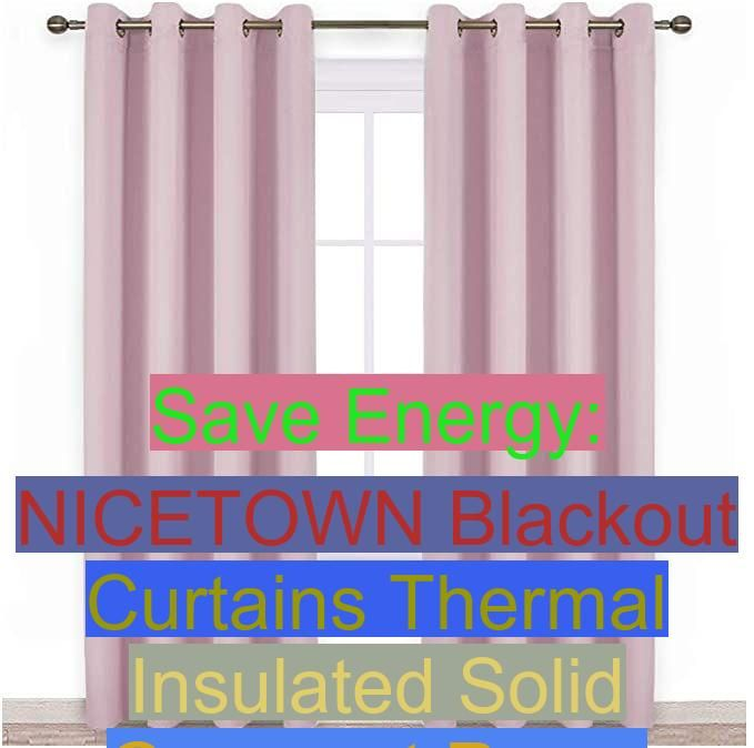 Amazon Com Nicetown Bedroom Blackout Curtains Panels Triple Weave Energy Saving Thermal Insulated Solid Grom In 2020 Thermal Curtains Blackout Draperies Save Energy