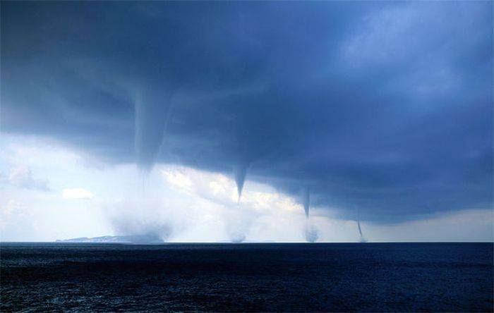 Sea storm in Othonoi Island, Greece