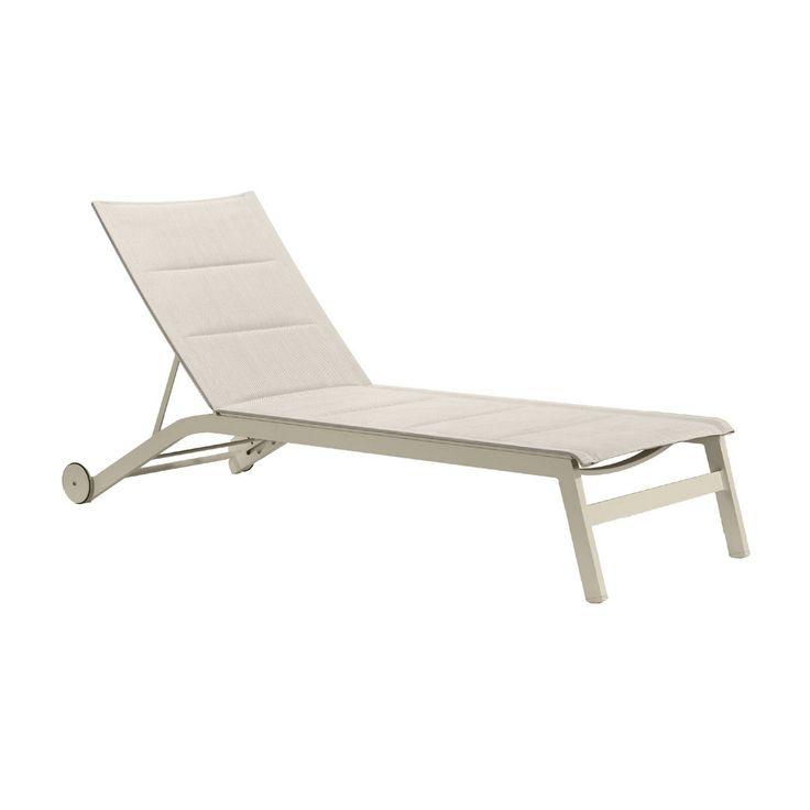 bonsoni sandbanks aluminium textilene 2 seater sun lounger set in light taupe outdoor use onlythe bonsoni furniture range uses minimalist and elegant