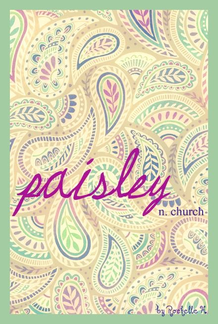 Girl Name: Paisley. Meaning: Church. Origin: Scottish. http://www.pinterest.com/vintagedaydream/baby-names/
