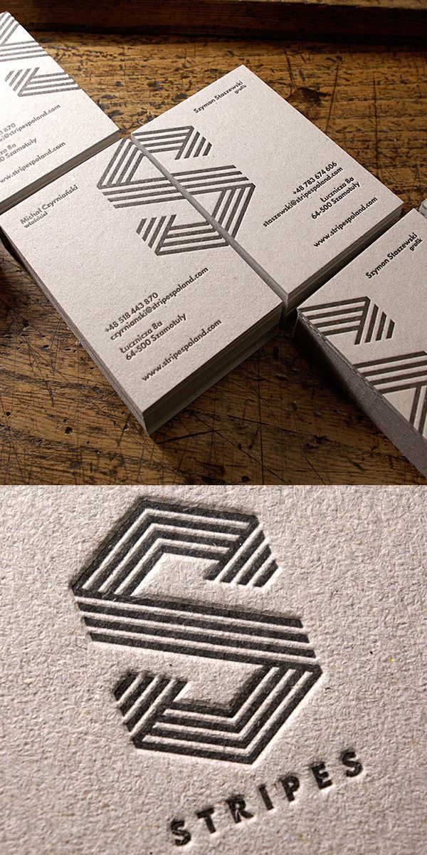 Strips Letterpress Business Card #businesscards #embossed #letterpressbusinesscards #letterpressprinting