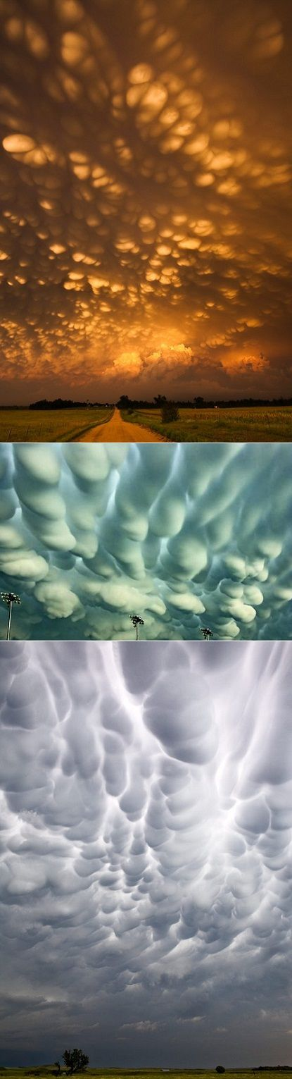 Last June after a stormy night, the residents of Regina in Canada woke up to a super rare cloud formation called the mammatus phenomenon.