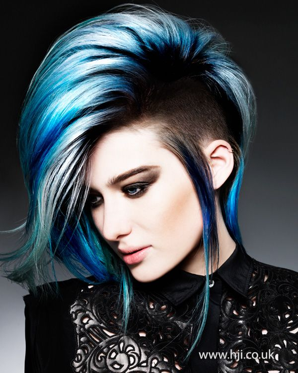 Ice blue + undercut...Fierce!